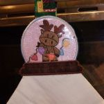 Moose Snow Globe Towel Topper