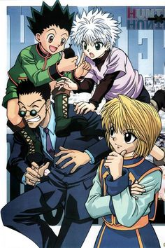 Gon killua leorio and kurapika anime i hath seenread but favorite fighter anime hunter x hunter voltagebd Gallery