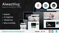 AiwazMag – WordPress Responsive Magazine  #wordpress #theme #website #template #responsive #design #webdesign #flat #flatdesign #magazine #modern