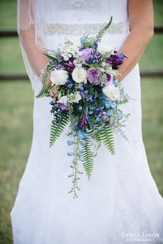 Elegant lavender bouquet bridal ideas 63 We love the flower for its look, scent, and taste. Wildflower Bridal Bouquets, Bridal Bouquet Blue, Cascading Wedding Bouquets, Lavender Bouquet, Purple Wedding Flowers, Blue Bridal, White Bridal, Bride Bouquets, Bridal Flowers