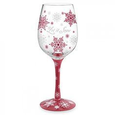 Let it Snow Hand-Painted Wine Glasses!