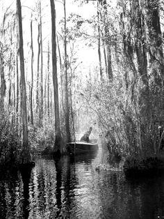 Florida Memory - Boating in the Okefenokee Swamp - Osceola County, Florida