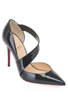 Louboutin Ograde 100 Patent Pumps in Black - Beyond the Rack