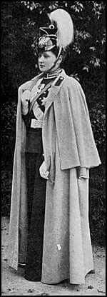 """Tsarina Alexandra Feodorovna of Russia in the uniform of her Uhlan regiment. """"AL"""""""
