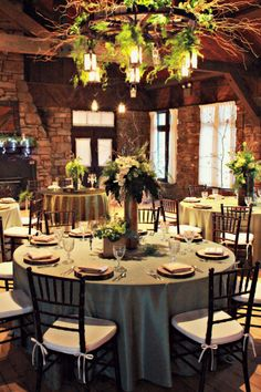 Beautifully Decorated Allison Peabody Hall - Abe Martin Lodge - Brown County State Park - Nashville, IN - #rustic #chic #abemartinlodge #wedding