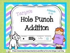 Your students can practice their addition facts using addends 0-10, while incorporating some fine motor skills as well.  Simply copy the pages included and follow the simple direction page so you know where to cut and where to fold.  Copy pages onto tag board so students can manipulate the paper easily.