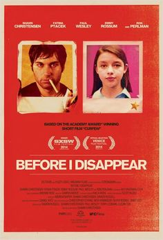 """""""Before I Disappear"""" (2014) Everything about this movie is well done. Well directed, well shot and well written, yet because of the work done to incorperate the soundtrack it has a very 'lose' feel to it, and at the same time it feels a lot like the movie 'drive' with a protagonist wandering the citty in a windbreaker. However this beautifully lit and shot, w/a screamingly dark sense of humor."""