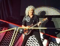 Brian May of Queen during One Vision. Queen + Adam Lambert concert, 21.06.2016, Bucharest, Romania