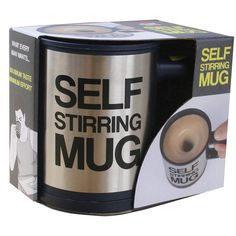 #mug #noveltygifts  The Self Stirring Mug is the consummate gift for that person who is simply...well - lazy! I mean - come on, we all know one, someone who is simply so lacklustre and apathetic in their demeanor that they can't muster up enough energy to stir their own drink!