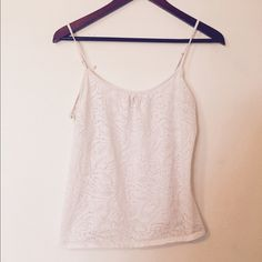 White Express Cami Cute light Cami with a nice detail. Express Tops Camisoles