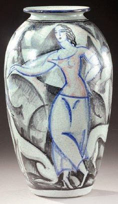 René Buthaud (1886-1986), Glaze Decorated Stoneware Vase.