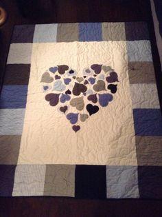 Memorial heart quilt
