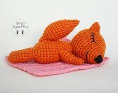 Лисичка сплюшка схема игрушки крючком