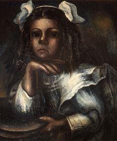 DAVID ALFARO SIQUEIROS, Retrato de María Asúnsolo niña, 1935