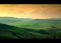Val d'Orcia hills. Italy
