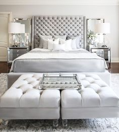 Romantic Master Bedroom Design Ideas - Home Decor Ideas Romantic Master Bedroom, Stylish Bedroom, Beautiful Bedrooms, Large Bedroom, Bedroom Black, Bedroom Neutral, Single Bedroom, Bedroom Colors, Simple Bedroom Design