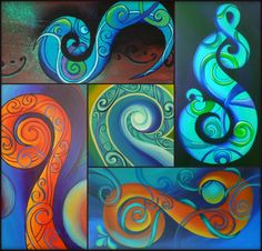 Reina Cottier Art. ~Tribal Koru Series~
