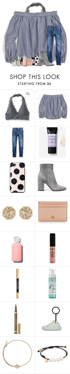 """never fear love"" by legitmaddywill ❤ liked on Polyvore featuring Aéropostale, J.Crew, Kate Spade, Gianvito Rossi, Grace Lee Designs, Tory Burch, bkr, NYX, Soap & Glory and Stila"