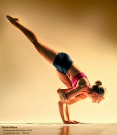 Yoga Flying pigeon pose