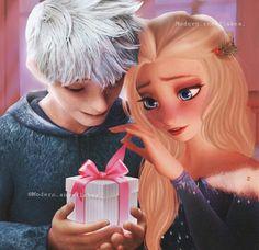 Jack Frost E Elsa, Jack And Elsa, Cute Disney, Disney Art, Disney Girls, Jelsa, Disney Princess Frozen, Princess Luna, Modern Disney Characters