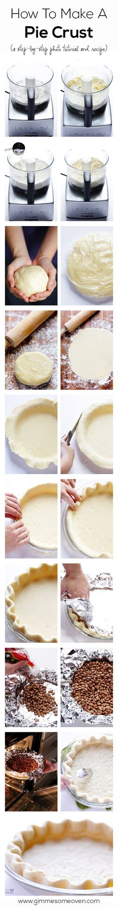 Beautiful pie crusts are easier to make than you may think! Follow this easy step-by-step photo tutorial to make one of your own.