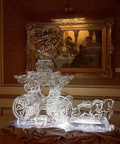 Fantasy Carriage and Horses Ice Sculpture by Art Below Zero, via Flickr