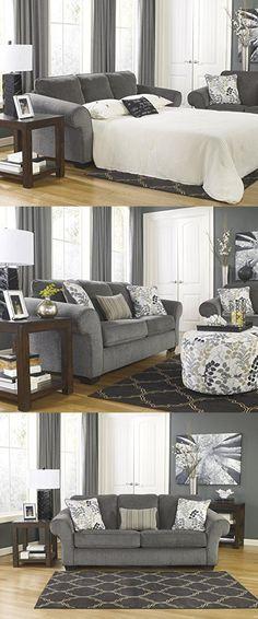buy makonnen charcoal queen sofa sleeper ashley furniture set living