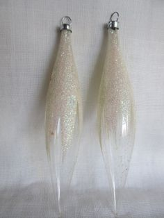 Vintage Hand Blown Teardrop Christmas Ornaments by AuntSuesVintage, $12.99