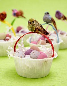 easter - mini bird baskets #diy #craft