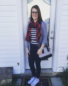 Southern Comfort Blog — How to wear Converse, OOTD #OOTD #converse #stripedshirt
