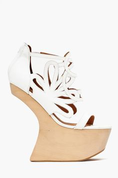 Corleone Platform - White Leather in Sale at Nasty Gal Fancy Shoes, Buy Shoes, Me Too Shoes, Women's Shoes, Prom Shoes, Wedding Shoes, Next Shoes, Fashion Sale, White Leather