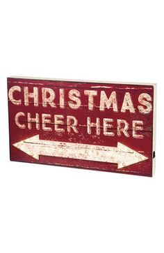 Primitives by Kathy 'Christmas Cheer Here' LED Box Sign