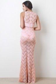 White Crochet Lace Cutout Mermaid Dress Cover-Up @ Urban Originals $20