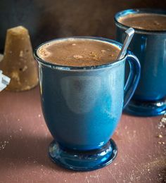 Here's an easy recipe for a delicious Champurrado -- a warm, hearty Mexican chocolate drink that is becoming more popular in the States. Mexican Bread, Mexican Dishes, Mexican Food Recipes, Dessert Recipes, Vegetarian Recipes, Mexican Drinks, Mexican Desserts, Drinks Alcohol Recipes, Yummy Drinks