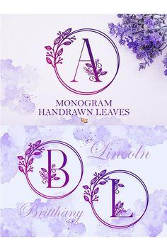 Letter Monogram, Monogram Design, Monogram Fonts, Logo Design, Graphic Design, Wedding Fonts, Wedding Cards, Font Logo, Typography