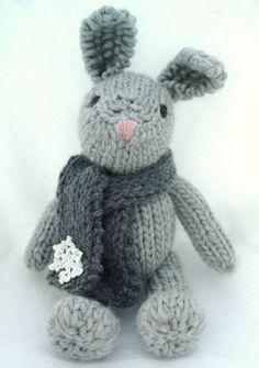 This is Genevie, a knitted bunny