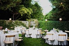 I would be happy with a simple backyard wedding like this (of course, I would need to have a dancefloor).  :-)