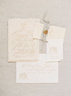 Simple + romantic paper suite: http://www.stylemepretty.com/2016/04/18/french-chateau-wedding-inspiration-to-sweep-you-off-your-feet/   Photography: Kayla Barker - http://kaylabarker.com/