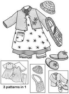 10 inch Ann Patsy BJD doll clothes pattern for by MorrisseyDolls