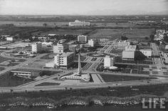 Vista aerea de la feria durante la era de trujillo