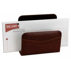 Desk Supplies>Desk Set / Conference Room Set>Holders> Files & Letter holders: Mocha Leather Letter Holder