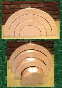 Nested Tealight Candle Holder  Here is one of our latest project made from 8/4″ basswood.  A four piece nested tea light candle holder.  This one measures approximately 10″ wide and 5″ tall when nested, and measures approx. 7″ deep when expanded.