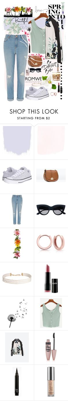"""""""Summer In London🎀"""" by smiley-aarzoo ❤ liked on Polyvore featuring Converse, Zara, River Island, Bling Jewelry, Humble Chic, NYX, Maybelline, Urban Decay, L'Oréal Paris and romwe"""