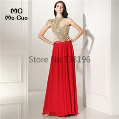 2017 New Arrival Prom dresses Vestidos de fiesta imported party dress Crystals Beaded Chiffon Formal Evening. Click visit to buy #PromDress #Dress
