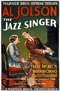 The Jazz Singer is a 1927 American musical film. As the first feature-length motion picture with not only a synchronized recorded music score, but also lip-synchronous singing and speech in several isolated sequences, its release heralded the commercial ascendance of sound films and the decline of the silent film era.