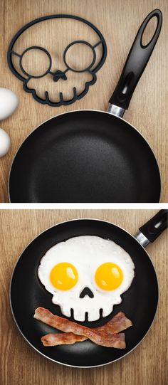 AWESOME - skull shaped egg mold! #product_design #halloween
