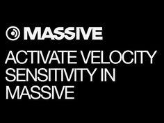 NI Massive - Activate The Velocity Sensitivity in Massive - How To Tutorial