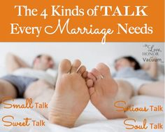 4 Kinds of Talk You Need in a Marriage