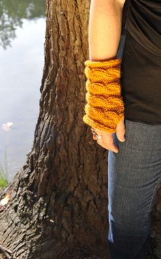 Fingerless Gloves Wrist Warmers Hand Knitted by amezarcreations