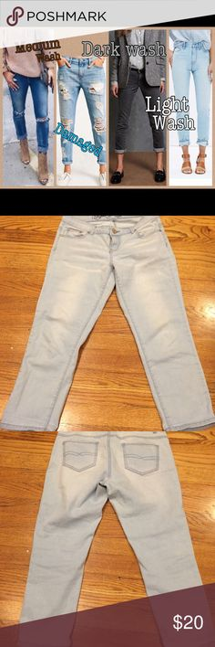 BUFFALO DAVID BITTON BUFFALO DAVID BITTON light wash crop jeans Buffalo David Bitton Jeans Ankle & Cropped